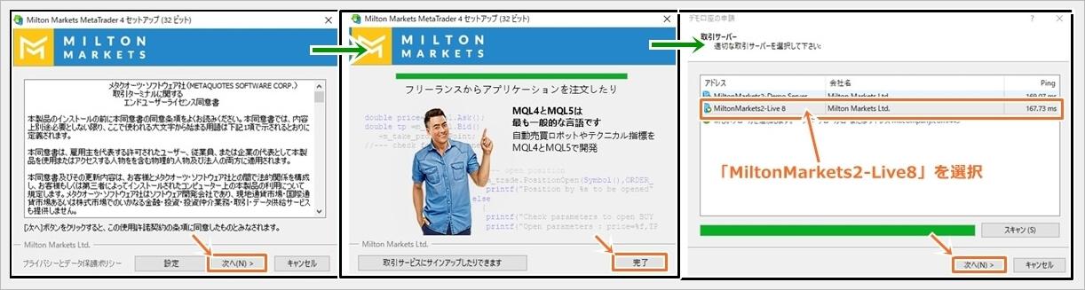 ミルトンマーケッツのMT4インストール方法(Windows版)